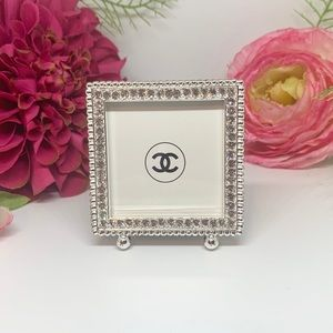 Other - ⚜️Framed Chanel Logo In Rhinestone Footed Frame